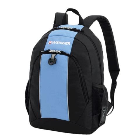 Рюкзак WENGER, универсальный, черно-голубой, 20 л, 32х14х45 см, 17222315