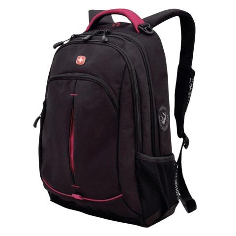 Рюкзак WENGER, универсальный, черный, розовые вставки, 22 л, 32х15х46 см, 3165208408
