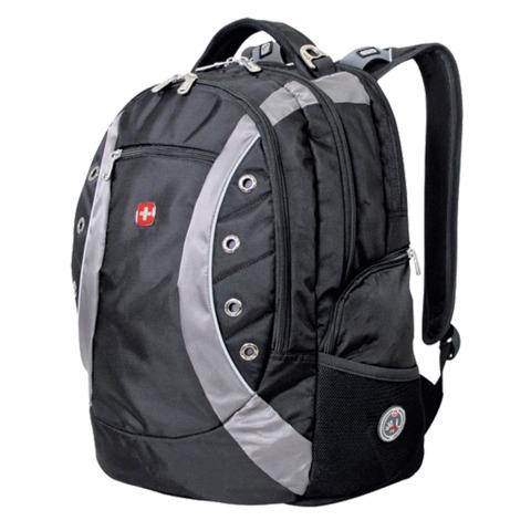 Рюкзак WENGER, универсальный, черно-серый,