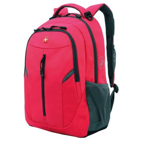 Рюкзак WENGER, универсальный, розовый, серые вставки, 22 л, 32х15х45 см, 3020804408