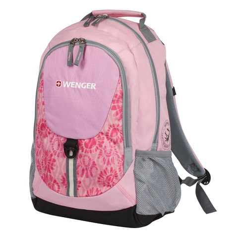 Рюкзак WENGER, универсальный, розовый, серые вставки, 20 л, 32х14х45 см, 31268415
