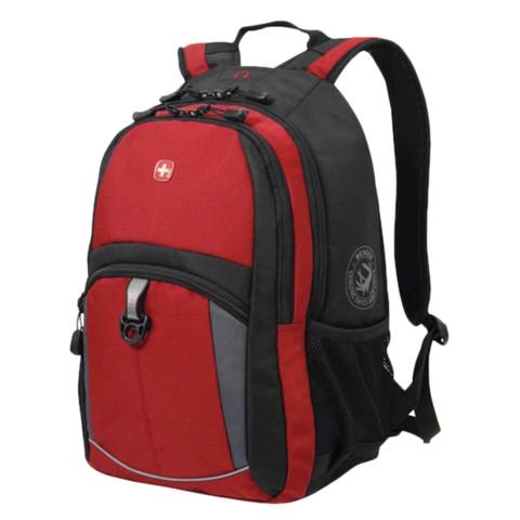Рюкзак WENGER, универсальный, красно-черный, серые вставки, 22 л, 33х15х45 см, 3191201408