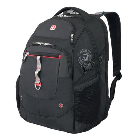 Рюкзак WENGER, универсальный, черный, функция ScanSmart, 34 л, 34х22х46 см, 6968201408