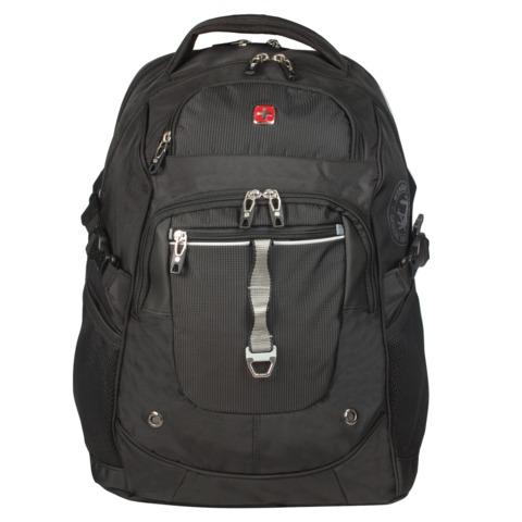 Рюкзак WENGER, универсальный, черный, функция ScanSmart, 34 л, 34х22х46 см, 6968204408