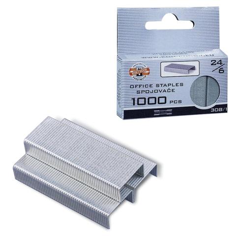 Скобы для степлера 24/6, 1000 штук, KOH-I-NOOR, до 20 листов, 9600308112KS