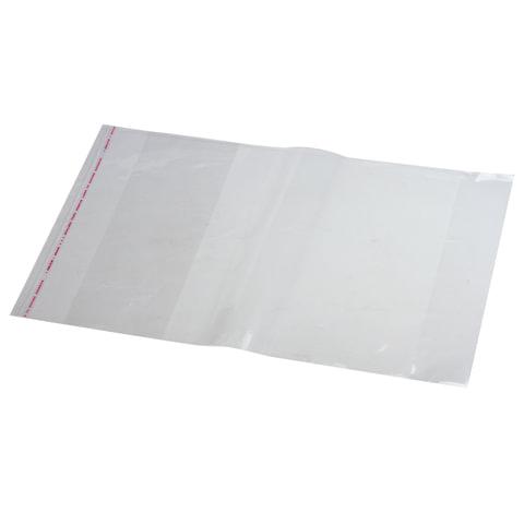Обложка ПП для учебника Петерсон, универсальная, прозрачная, клейкий край, 80 мкм, 270х450 мм, 16.34