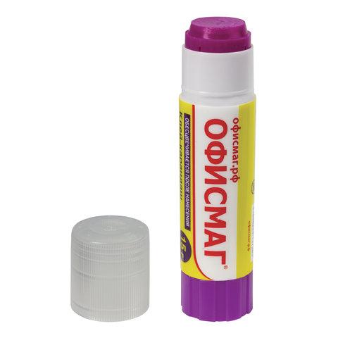 Клей-карандаш ОФИСМАГ 15 г, обесцвечивающийся после высыхания, 225963