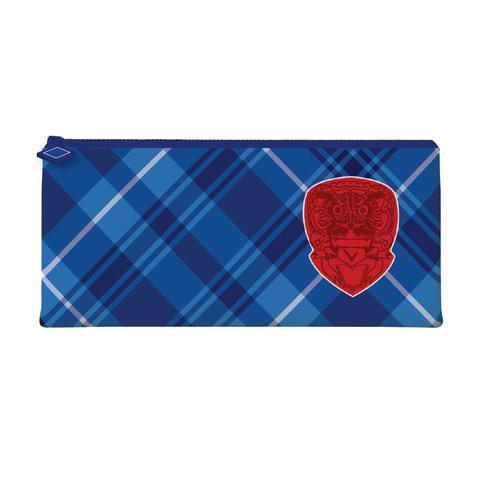 Пенал-косметичка BRAUBERG для учеников начальной школы, синий/голубой,