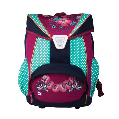 Рюкзак BRAUBERG для учениц, ортопедический, евроформат, EasyLock,
