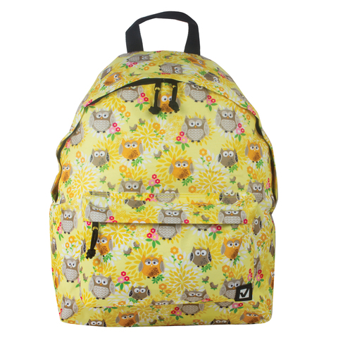 Рюкзак BRAUBERG универсальный, сити-формат, желтый,