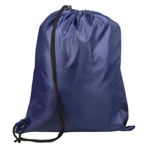 Сумка для обуви ТОП-СПИН для учеников начальной школы, 1 шнур с пластиковым фиксатором, синяя, 43х35 см, 226551