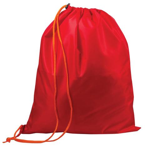 Сумка для обуви ТОП-СПИН для учеников начальной школы, 1 шнур с пластиковым фиксатором, красная, 43х35 см, 226552