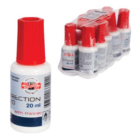 Корректирующая жидкость KOH-I-NOOR, 20 мл, флакон с кисточкой, на спиртовой основе, 9943