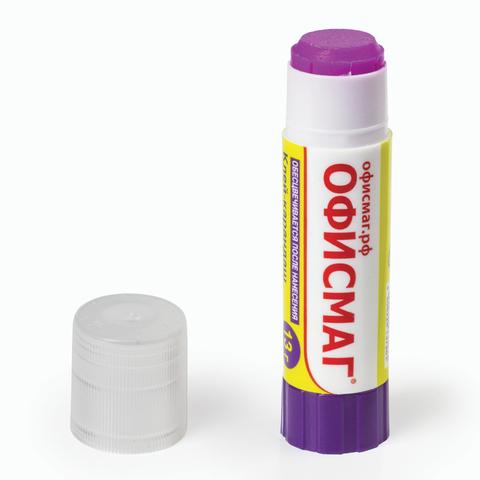Клей-карандаш ОФИСМАГ, 13 г, обесцвечивающийся после высыхания, 226619