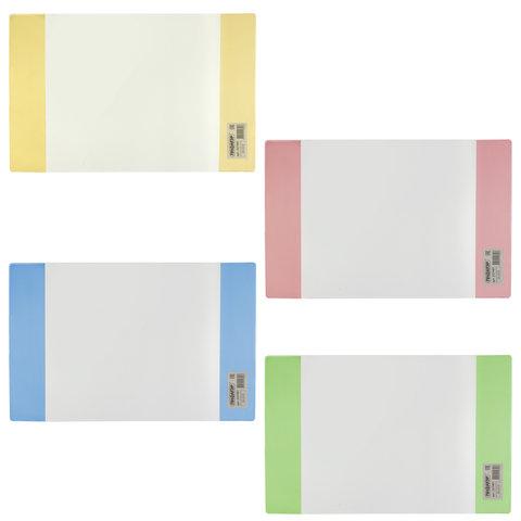 Обложка ПВХ для тетради и дневника ПИФАГОР, цветные клапаны, плотная, 120 мкм, 210х350 мм, 227481