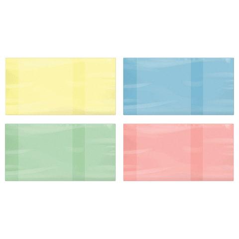Обложка ПВХ для учебника ПИФАГОР, размер универсальный, цветная, плотная, 100 мкм, 233х450 мм, 227485