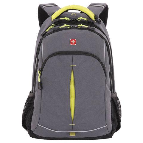 Рюкзак WENGER универсальный, серый, светоотражающие элементы, 22 л, 32х15х46 см, 3165426408-2