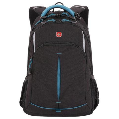 Рюкзак WENGER универсальный, черный, светоотражающие элементы, 22 л, 32х15х46 см, 3165206408-2