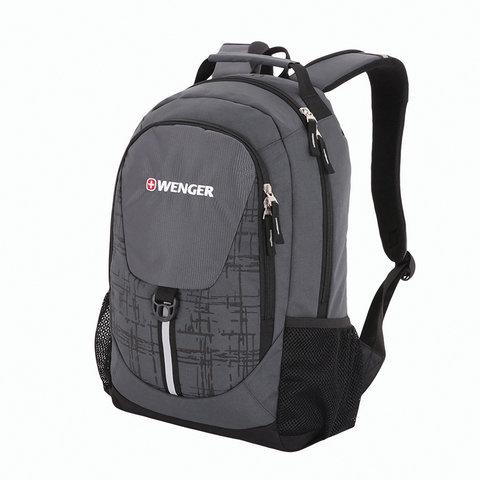 Рюкзак WENGER универсальный, серо-черный, светоотражающие элементы, 20 л, 32х14х45 см, 31264415-2
