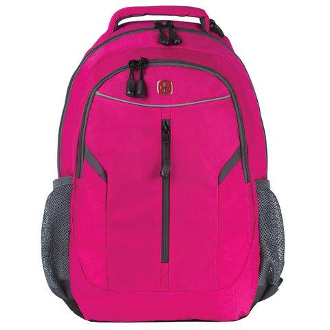 Рюкзак WENGER универсальный, розовый, светоотражающие элементы, 22 л, 32х15х45 см, 3020804408-2
