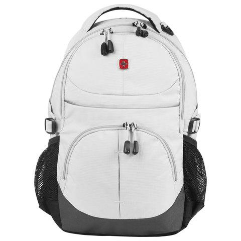 Рюкзак WENGER универсальный, светло-серый, светоотражающие элементы, 22 л, 33х15х45 см, 3001402408-2