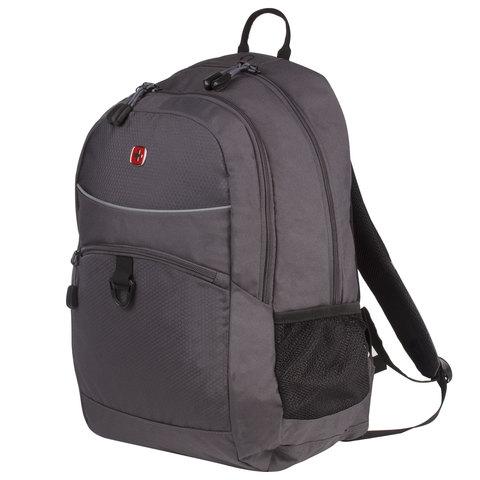 Рюкзак WENGER универсальный, темно-серый, светоотражающие элементы, 26 л, 33х17х46 см, 6651414408