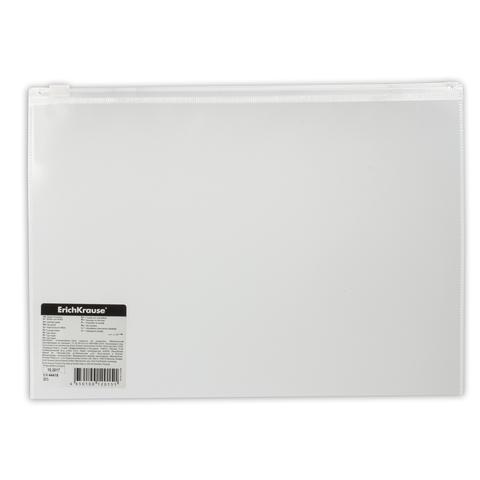Папка-конверт на молнии B5 (289х214 мм), прозрачная, 0,14 мм, ERICH KRAUSE