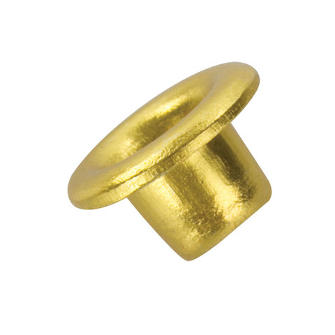 Люверсы BRAUBERG, КОМПЛЕКТ 250 шт., внутренний диаметр 4,8 мм, длина 4,6 мм, золотистые, 227793