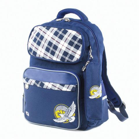 Рюкзак BRAUBERG с пеналом в комплекте, эрго-спинка, для мальчиков, Орел, 42х29х14 см, 227853