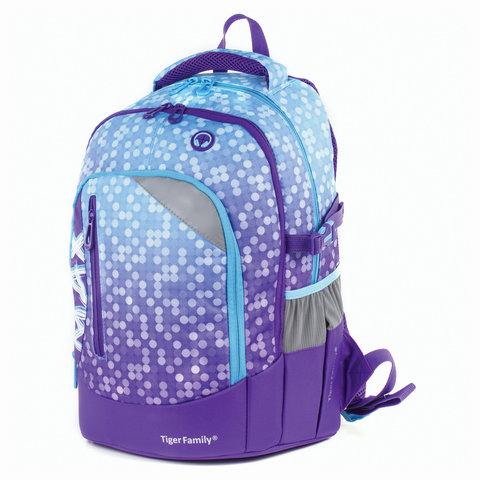 Рюкзак TIGER FAMILY (ТАЙГЕР), с ортопедической спинкой, молодежный, фиолетовый, 43х33х23 см, TMMX-006A