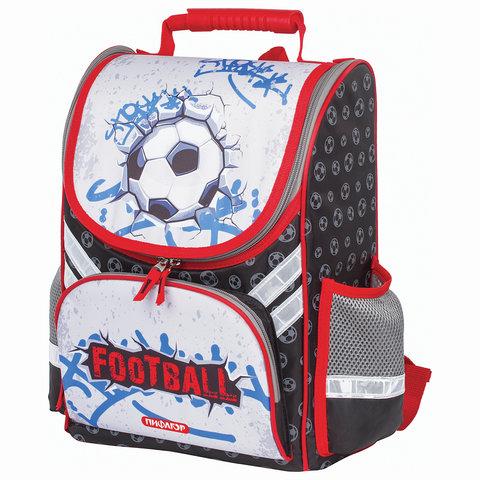Ранец для учеников начальной школы ПИФАГОР, Футбольный мяч, 36х28х15 см, 227933
