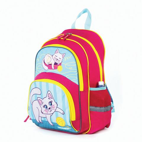 Рюкзак ПИФАГОР+ для учениц начальной школы, Котенок, 40х30х15 см, 227937