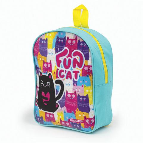Рюкзак ПИФАГОР детский, Черный кот, 30х23х9 см