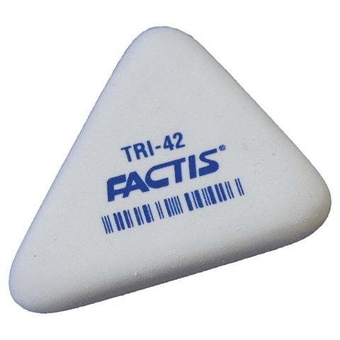 Резинка стирательная FACTIS TRI 42 (Испания), треугольная, 45х35х8 мм, мягкая, синтетический каучук, PMFTRI42