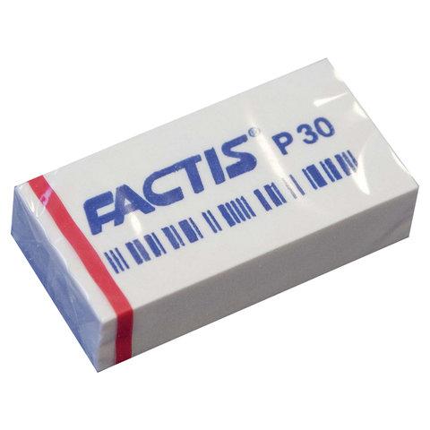 Ластик FACTIS P 30 (Испания), 40х20х10 мм, белый, прямоугольный, мягкий, CPFP30