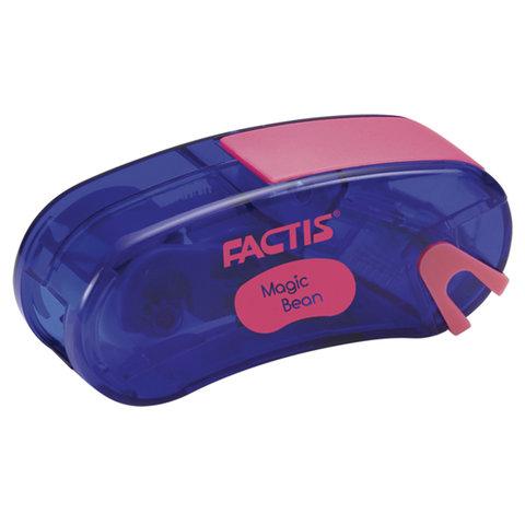 Точилка FACTIS Magic Bean (Испания), с контейнером и стирательной резинкой, 65x30x20 мм, ассорти, F4715215