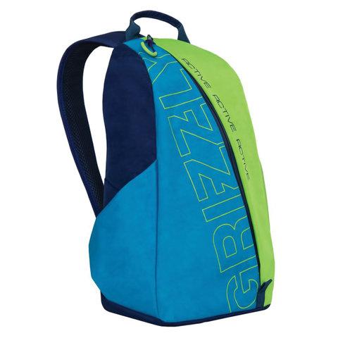 Рюкзак GRIZZLY универсальный, синий\салатовый, Актив, 29х43х14 см, RQ-910-1/1