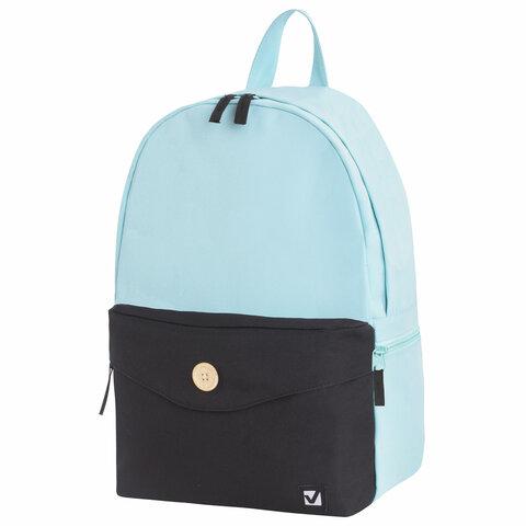 Рюкзак BRAUBERG универсальный, SYDNEY Green&black, 38*27*12 см, 228839