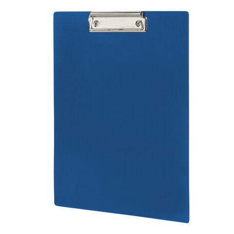 Доска-планшет STAFF с прижимом А4 (315х235 мм), пластик, 1 мм, синяя, 229222