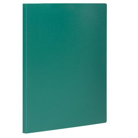 Папка с боковым металлическим прижимом STAFF, зеленая, до 100 листов, 0,5 мм, 229235