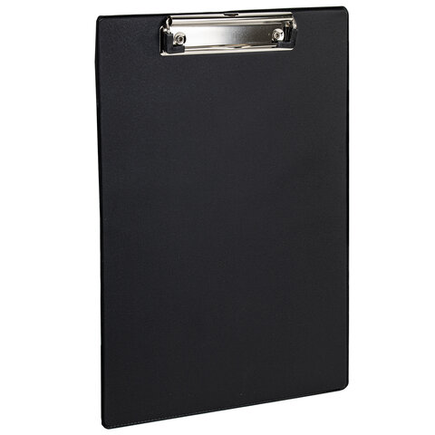 Доска-планшет STAFF с прижимом А4 (228х318 мм), картон/ПВХ, ЧЕРНАЯ, 229554