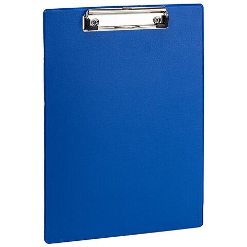 Доска-планшет STAFF с прижимом А4 (228х318 мм), картон/ПВХ, СИНЯЯ, 229555
