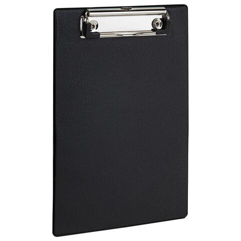 Доска-планшет МАЛЫЙ ФОРМАТ (158х230 мм), А5, STAFF, с прижимом, картон/ПВХ, ЧЕРНАЯ, 229556