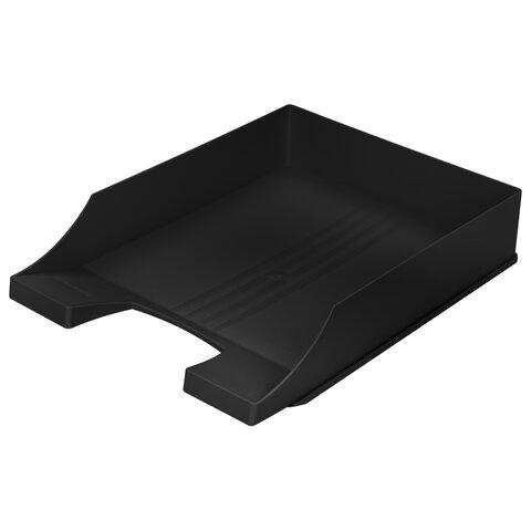 Лоток горизонтальный для бумаг BRAUBERG-CONTRACT, А4 (340х254х66,5 мм), черный, 230879