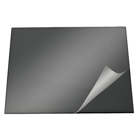 Коврик-подкладка настольный для письма DURABLE (Германия), c прозрачным листом, 52х65 см, черный, 7203-01