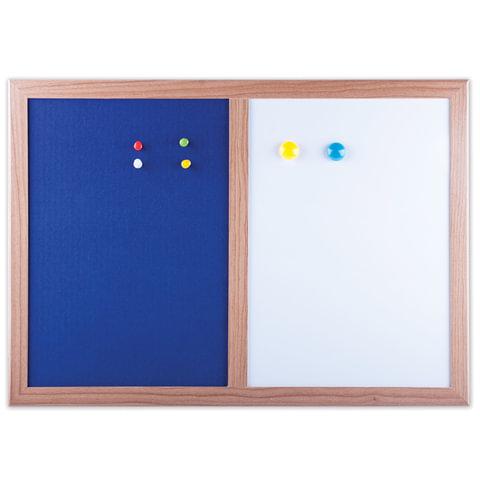 Доска комбинированная: магнитно-маркерная, текстильная для объявлений А3 (342х484 мм), BRAUBERG, 231995