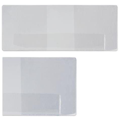 Обложка для удостоверения, ПВХ, 90х226 мм, прозрачная, ДПС, 1267.К