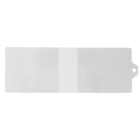 Обложка для удостоверения с хлястиком, ПВХ, 78х224 мм, прозрачная, ДПС, 1323.К