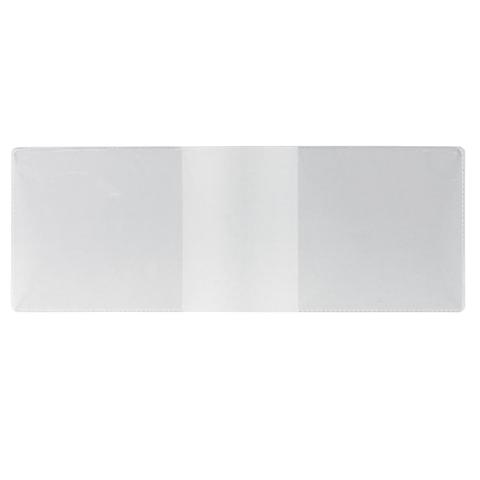Обложка для удостоверения, ПВХ, 210х77 мм, прозрачная, ДПС, 1510