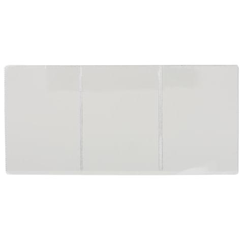 Обложка для автодокументов трехсекционная, 262х122 мм (в разложенном виде), ПВХ, прозрачная,